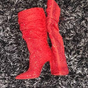 Jessica Simpson Red Jewel Boots